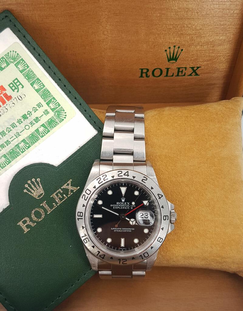 "ROLEX EXPLORER II 16570 ""ONLY SWISS"""